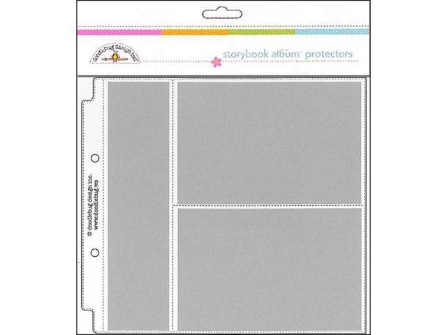 "Doodlebug 3498 Album Protector Page 8x8/"" Horizontal Photo//Recipe Card 12pc"