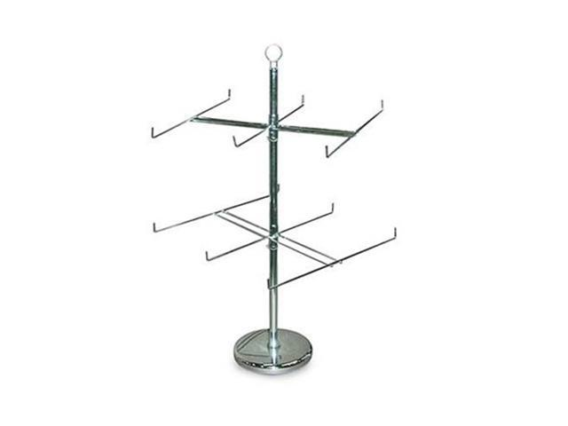Retail Display Hanging Counter Top Spinner Rack 2 Tier Wire 25 H
