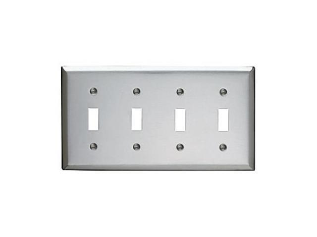 Switch Wall Plate P /& S SS3 Stainless Steel 3 Gang Standard