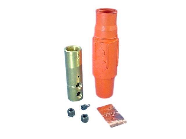 Leviton 17D24-H 17 Series Female Detachable Plug Double Set Screw Complete Brown