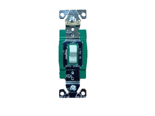 Cooper 3032V Ivory Industrial Grade Double Pole Toggle Light Switch ...