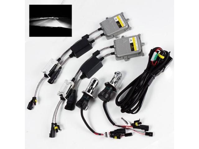 H4-3//9003-3//HB2-3 6000K White Bi-Xenon 55W Slim Ballast HID Kit Hi-Low Headlight