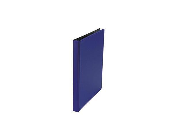 Suede Finish Vinyl Round Ring Binder Royal Blue 1-Inch Capacity