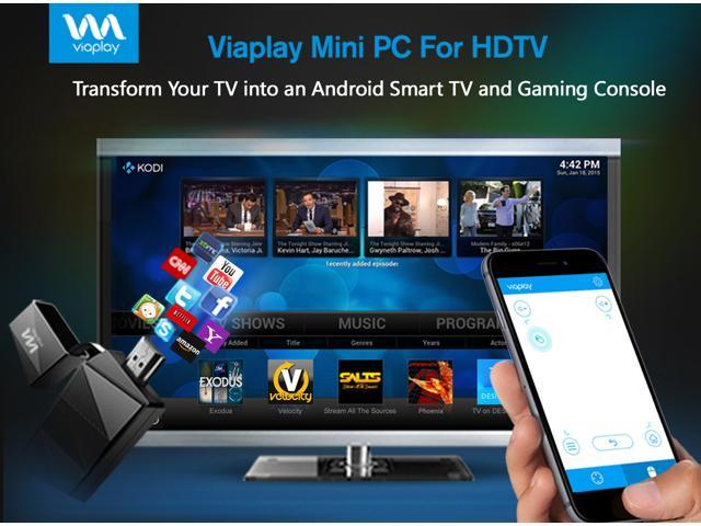 Viaplay T2 Quad Core Android Mini PC Smart TV Box Stick Dongle - Kodi  (XBMC) 16 2 jarvis Fully Loaded - best rated streaming media player -  Newegg com