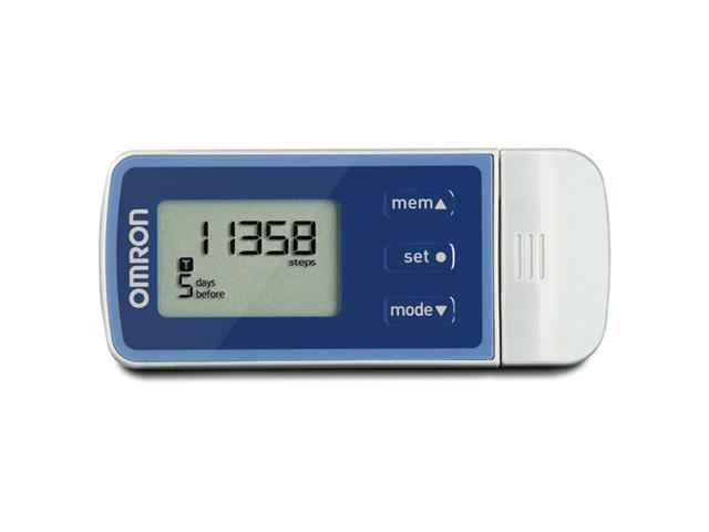 Battery NEW Omron Hj-322u Tri-axis Pedometer W// Holder Stores 21 Days