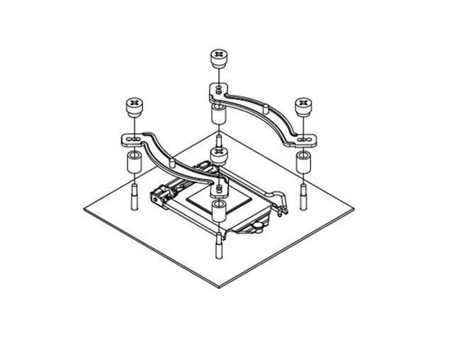 Noctua NM-i115x Montageset f/ür Noctua CPU-K/ühler auf Intels LGA115x Plattformen