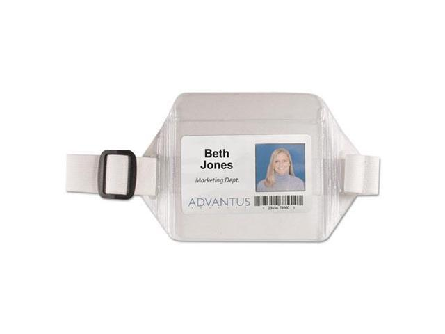 NEW! LOT OF ☀5☀ ELASTIC ARM BAND VERTICAL ID PHOTO IDENTIFICATION BADGE HOLDERS