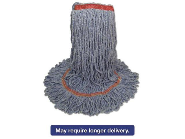 Blue Dust Mop Head, Medium, Looped End BWK503BLNB - Newegg com