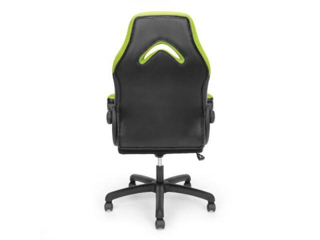 Ofm Essentials Collection Racing Style Bonded Leather Gaming Chair In Green Ess 3085 Grn Newegg Com