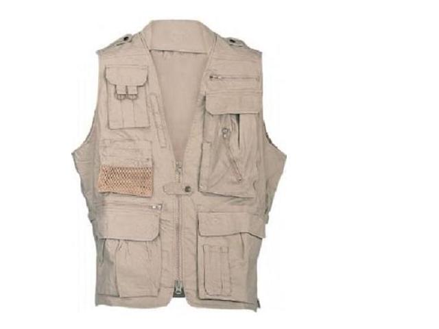 Campco Humvee Safari Photo Vest Khaki Extra Large Hmv Vs K Xl