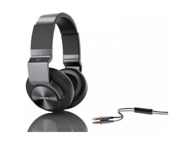 AKG K545 Closed-Back Over-Ear Headphones with In-Line Apple Compatible Mic  & Controls (Black) - Newegg com