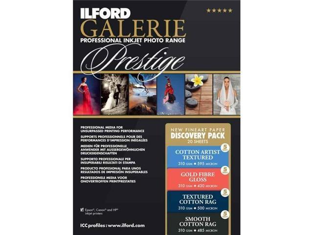 Ilford Galerie Discovery Pack Semi-Gloss Paper Sample Pack (8 5x11