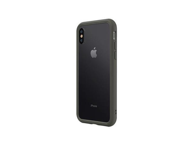 huge selection of 0a8ee 97e2f RhinoShield CrashGuard NX Modular Bumper Case for iPhone X/XS, Graphite -  Newegg.com