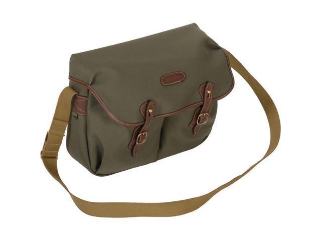 71d0a4aae Billingham Hadley Shoulder Bag, Large, Sage with Chocolate Leather Trim