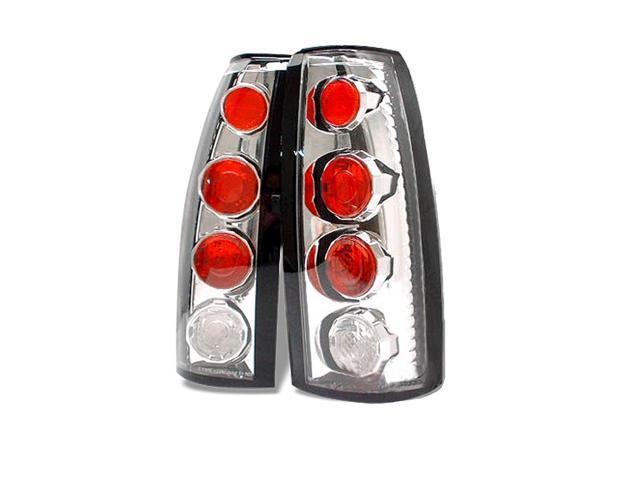 Set of Chrome Smoke Taillights for 88-99 GM C//K 1500 2500 3500 Yukon Suburban