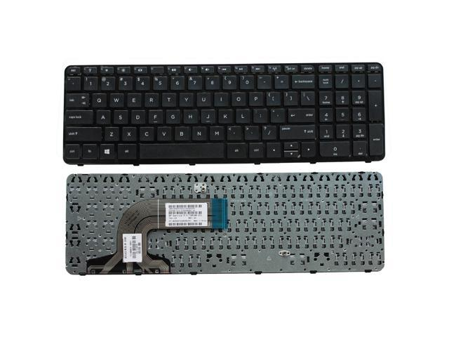 Replacement for HP 15-f125wm 15-f199nr 15-f200 15-f205dx 15-f210ca 15-f215dx US Layout Black Color New Laptop Keyboard with Frame