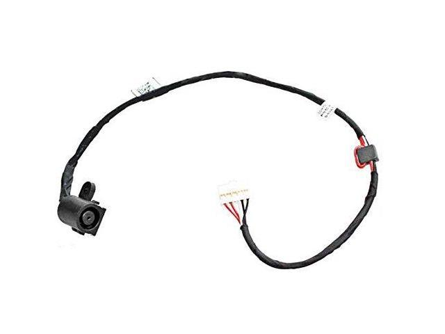 new ac dc jack power with cable harness for dell inspiron