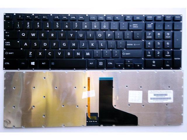 Replacement for Toshiba Satellite P50-C P50D-C P50t-C P55-C P55t-C P55T-C5114 Series Light Backlight New US Black Backlit English Laptop Keyboard Without Frame