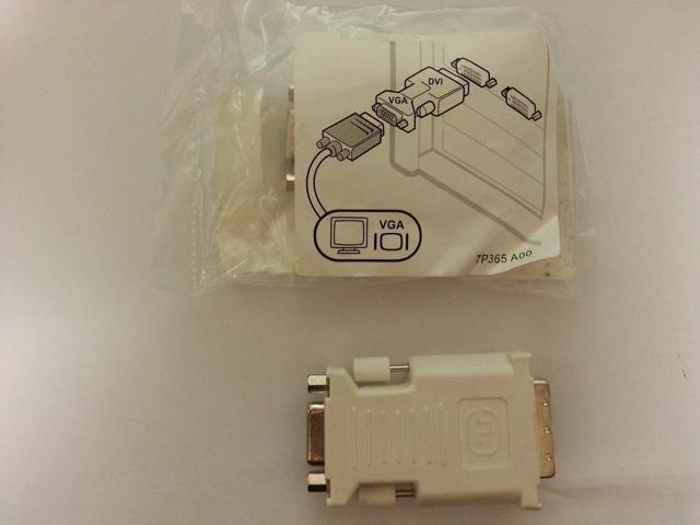 Dell DVI to VGA Adapter Converter 0J8461 DVI Male to VGA Female