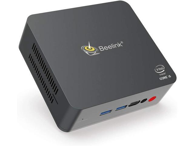 Beelink U57 Mini PC Windows 10 Pro Desktop Computer Intel Core i5-5257u (up to 3.10 GHz) 8GB RAM 128GB SSD, 2.4G/5G WiFi, Gigabit Ethernet, BT4.2, Dual HDMI, Expandable 2.5-inch HDD 1TB SSD