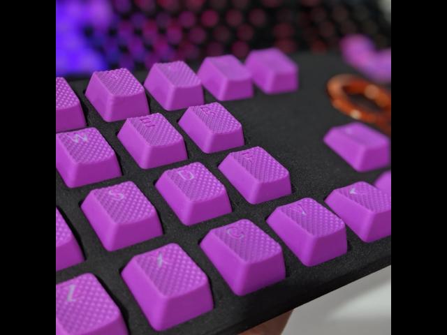 Rubber Gaming Keycaps Set Doubleshot Rubberized Cherry Mx Mechanical Keyboard