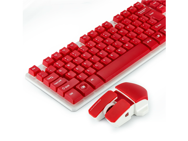 f4860b5b7e3 CORN 2.4GHz Wireless Mechanical Feeling Gaming Keyboard & Mouse With Unique  Ergonomic Design, Suspension