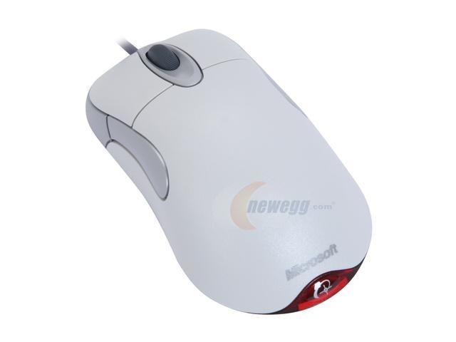White Microsoft IntelliMouse Optical 1.1A FPS Gaming Mouse