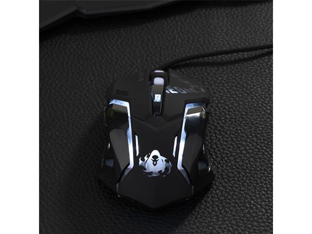 Overwatch OW Reaper Design Cosplay Black LED USB Wired 2400DPI 6 Buttons  Gaming Mouse - Newegg com
