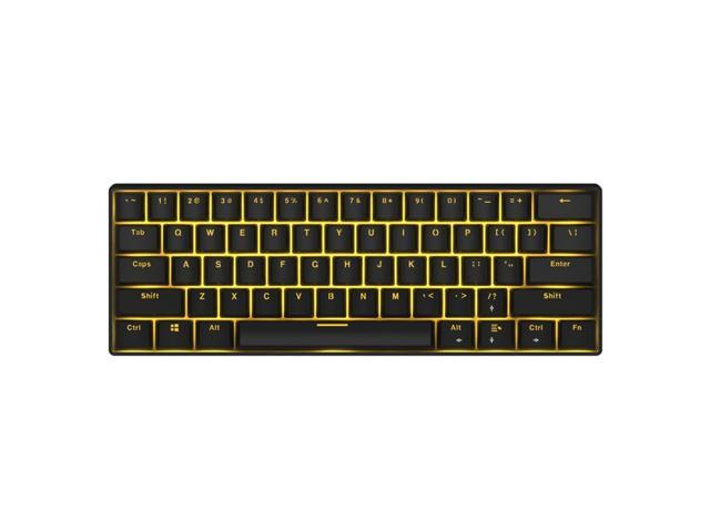 Royal Kludge Rk61 Mechanical Bluetooth 3 0 Wired Wireless 61 Keys Multi Device Led Backlit Gaming Office Keyboard For Ios Android Windows And Mac With Rechargeable Battery Blue Switch Black Newegg Com