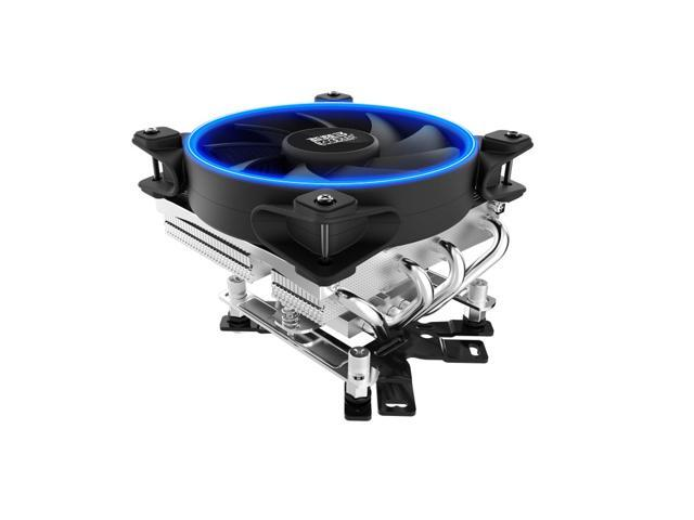PC Cooler Dragon Slayer CPU Cooler - 120mm LED Halo Ring PWM Fan with 4  Heatpipes Low-Profile Heatsink - For Intel LGA 775/115X/2011/2066, AMD