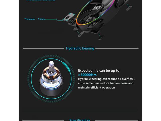 2-Pack PCCooler Corona Angel Eye AURA RGB Gigabyte/MSI/ASRock RGB Sync  Supported - 120mm Super Silent Cooling Fan with Slimline LED Halo Ring,