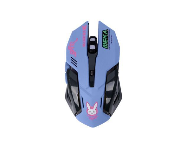 Game Overwatch D.va Electronic Sports USB Breathing Light Wired Mouse Gift New