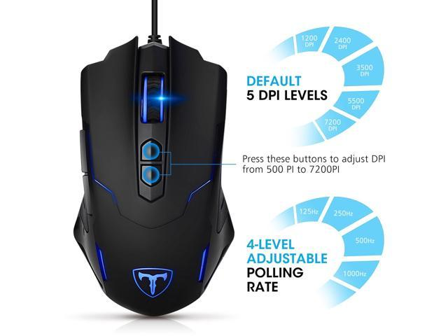Programmable 7200 DPI Pictek Gaming Mouse Wired Breathing... Free Shipping