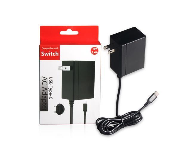 Nintendo Switch Type-C AC Adapter Charger 15V 2 6A 5ft Cable Play&Charge  Support TV Mode and Dock Station - Newegg com