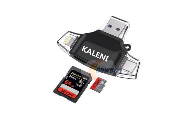 4 in 1 Micro SD Card Reader Type-C//Lightning//Micro USB for Android iPad iPhone