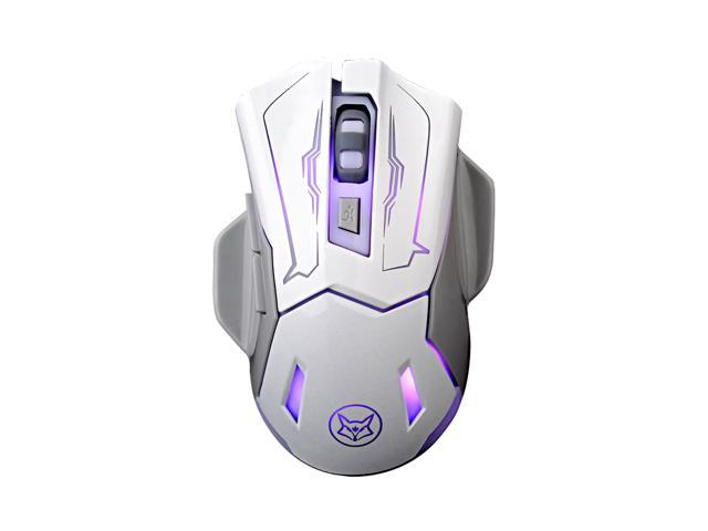 CORN Q6 Ergonomic Design, Cool Exterior 2400DPI Wired 6-button Breathing  Light Effect Gaming Mouse For Office And Game - Classic White( Clicking  Sound