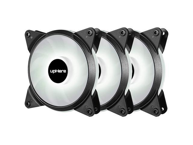 upHere 3-Pack 120mm 3-Pin High Airflow Quiet Edition White LED Case Fan PC  Cases, CPU Coolers Radiators - Newegg com