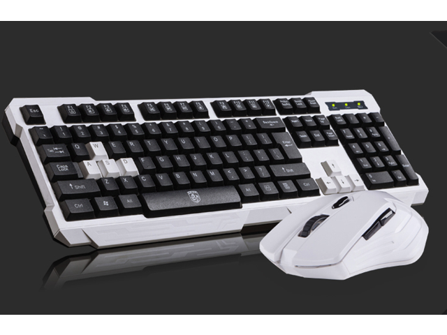 G700 Mechanical Game Keyboard Mouse Cable USB Set White