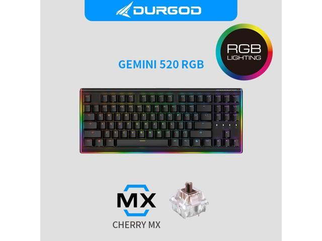 cdb18deacab DURGOD Mechanical Gaming Keyboard [Cherry MX Brown Switches] RGB LED Backlit  and Illuminated Side