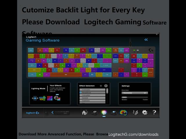 Logitech G512 N-Key Rollover Ergonomic Design, Cool Exterior USB Wired RGB  Backlit Linear Shaft Mechanical Gaming Keyboard, Click Like Red Mechanical