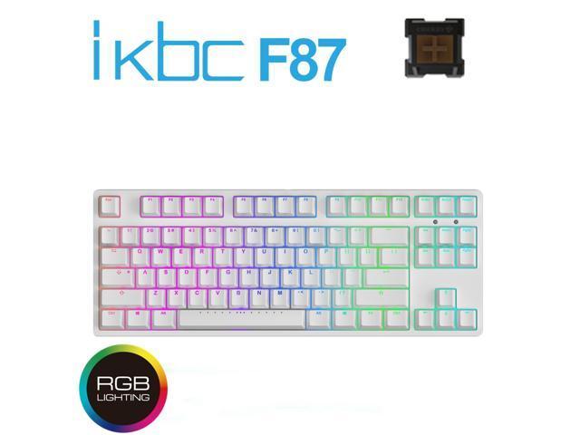 iKBC F87 RGB TKL Mechanical Keyboard with Cherry MX Brown Switch, White PBT  Double Shot Keycap - Newegg ca