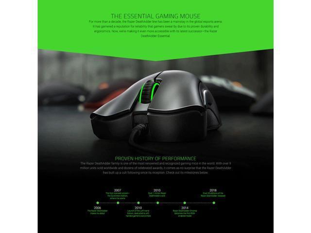 Razer DeathAdder Essential Ergonomic Gaming Mouse with 6400dpi RZ01-00840100