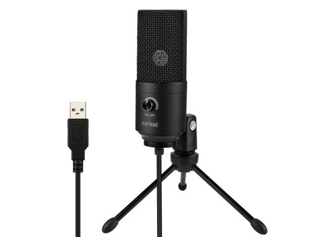 Fifine Metal USB Condenser Recording Microphone For Laptop Windows Cardioid Stu