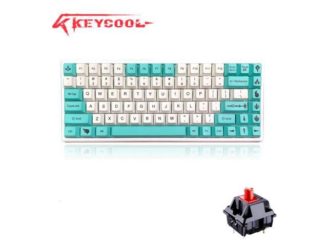 Keycool K84 Bluetooth and Wired Dual Modes Mechanical Keyboard Mini Gaming  84 Keys Keyboard (Cherry MX Red), PBT Keycaps-Green and White - Newegg com