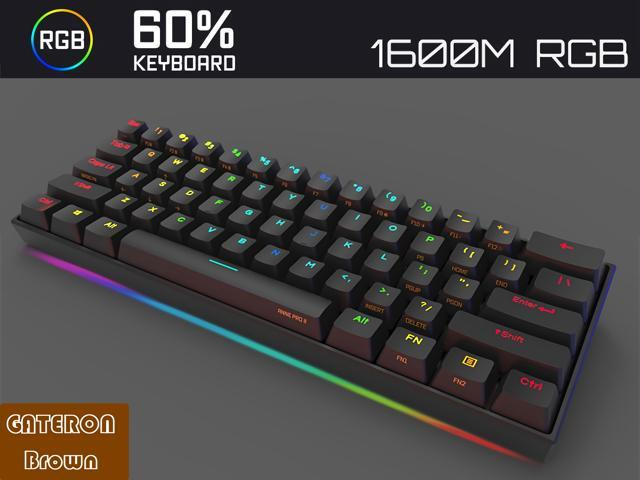 Anne Pro 2 Mechanical Gaming Tenkeyless Keyboard 60% True RGB Backlit -  Wired/Wireless Bluetooth 4 0 PBT Type-c Up to 8 Hours Battery Life, Linux  Mac