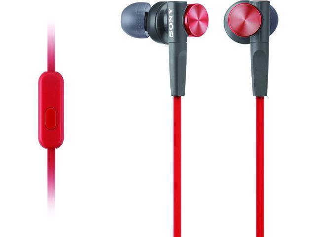 Sony MDRXB50AP Extra Bass Earbud Headset (Red)