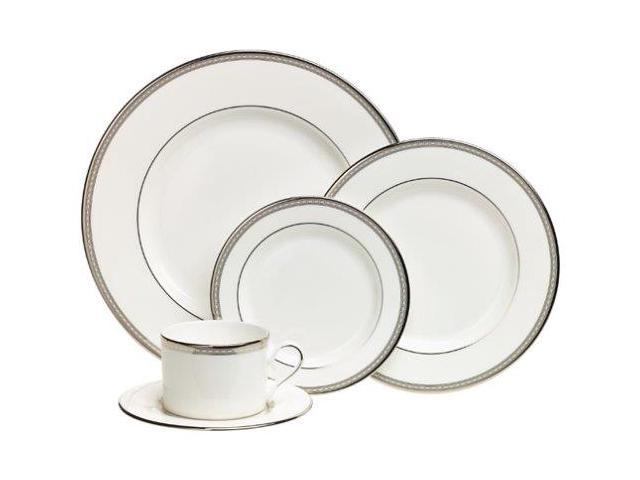 Service for 1 Lenox Hannah Platinum Bone China 5-Piece Place Setting