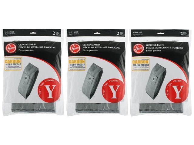 2-Pack Hoover Type Y Carbon HEPA Bag AH10165