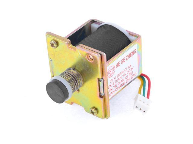 DC 24V 0.77A 130GF Force 5mm Stroke Push Type Solenoid Electromagnet