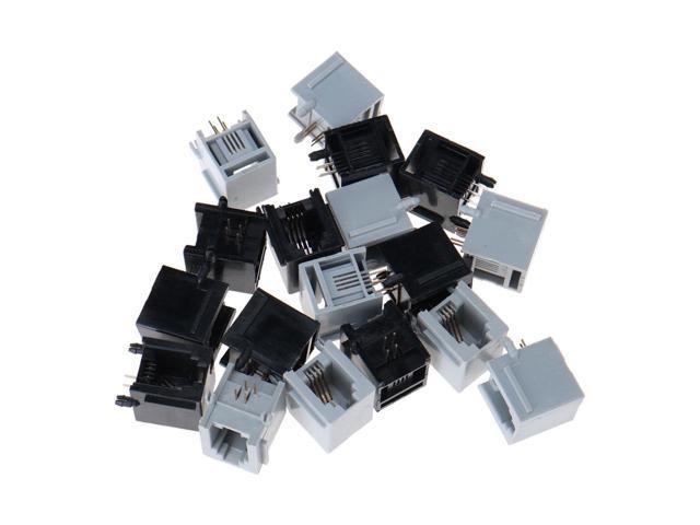 rj22 connector wiring global bargains 18 pcs vertical rj9 rj10 rj22 4p4c pcb jack female  vertical rj9 rj10 rj22 4p4c pcb jack